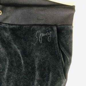Juicy Couture Black Velvety Lounge pants. Size L